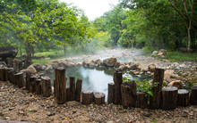 Spring Hot Water Nature Attractions In Pai District Mae Hong Son