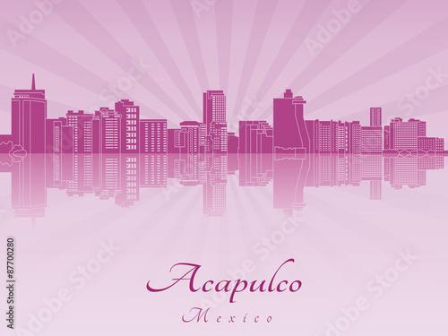 Fotografija  Acapulco skyline in purple radiant orchid