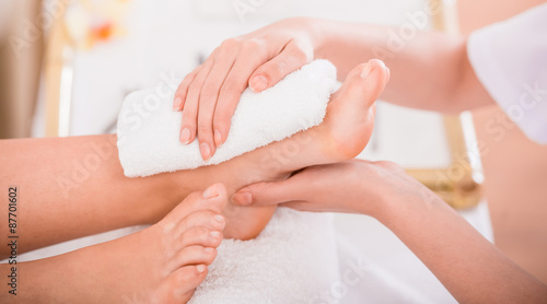 Canvas Prints Pedicure Spa treatment