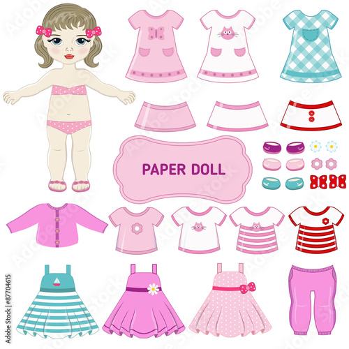 Photographie  Paper doll.
