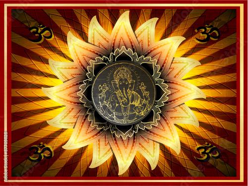 Photo  illustration of Ganesha, OM