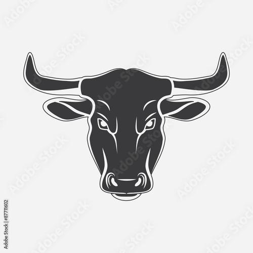 BULL head silhouette symbol