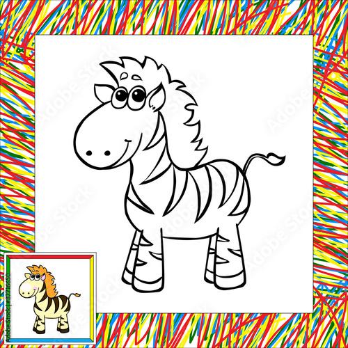 Funny cartoon zebra coloring book – kaufen Sie diese ...