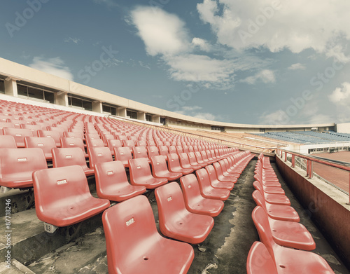 Fotobehang Stadion Empty seats at the Stadium