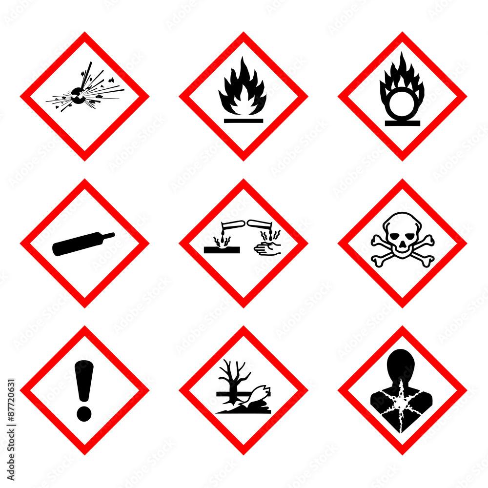 Fototapeta Nouvelle classification des produits chimiques
