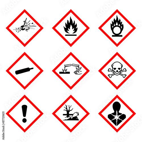 Obraz na plátně Nouvelle classification des produits chimiques