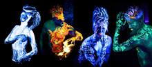 Four Elements. Body Art Glowin...