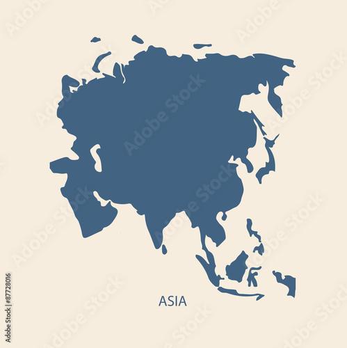 In de dag Wereldkaart ASIA MAP VECTOR