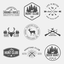 Vector Set Of Hunting Club Lab...