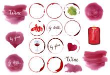 Watercolour Wine Set