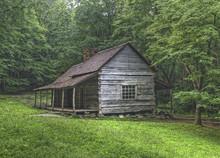 """Noah """"Bud"""" Ogle Log Cabin, Gre..."""