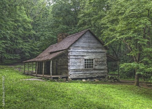 "Foto Noah ""Bud"" Ogle Blockhaus, Great Smoky Mountains Nationalpark"