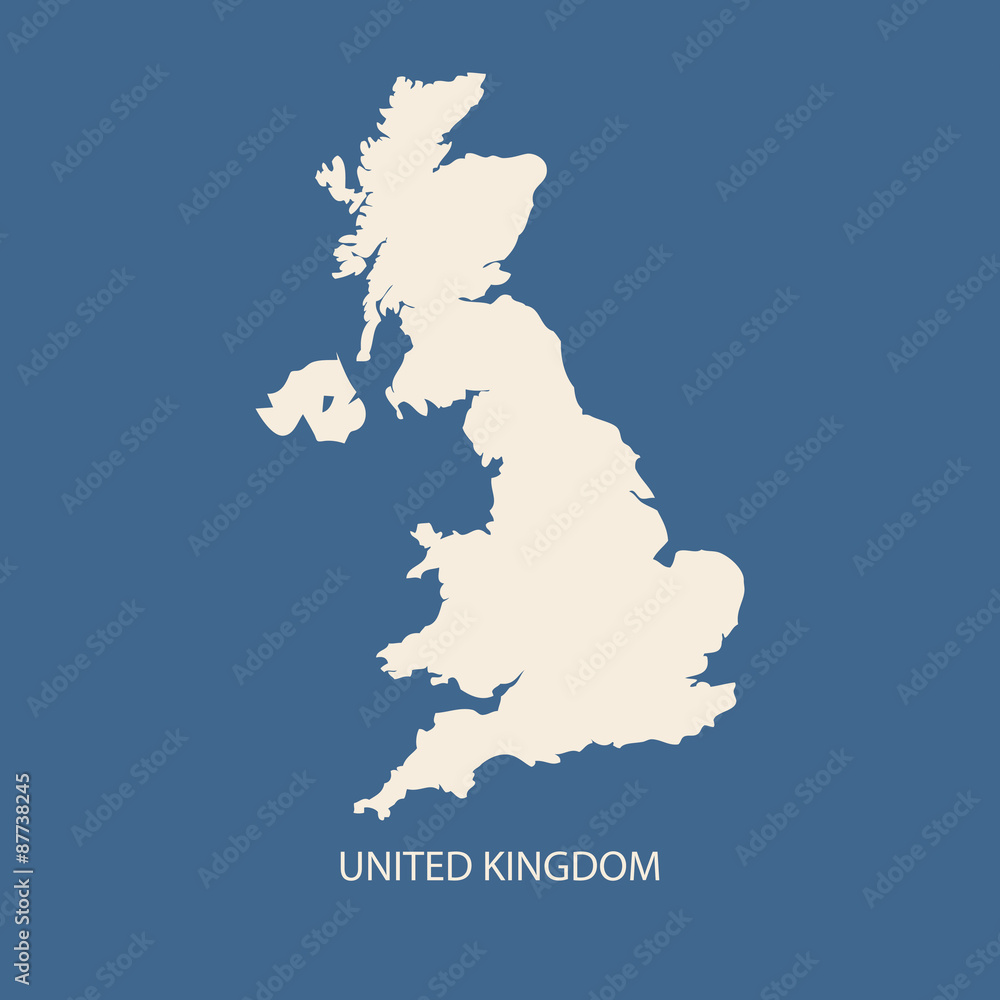 Fotografía  UNITED KINGDOM MAP VECTOR, UK MAP VECTOR