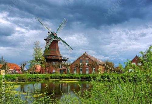 Aluminium Prints Mills Nesse Windmuehle - windmill Nesse 01