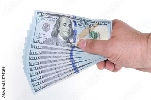Fotografía  Hands holding dollar cash