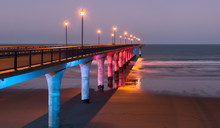 Decorative Lighting Of A Pier ...