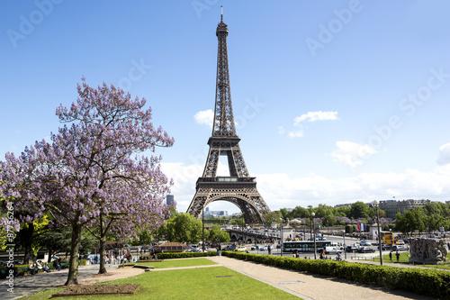 Poster Tour Eiffel View of eiffel tower in Paris, France