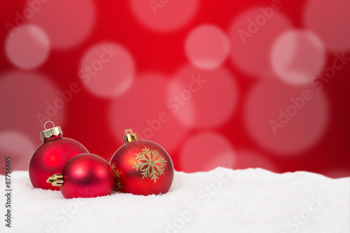 Weihnachtskarte Weihnachten Hintergrund Dekoration mit Schnee ...