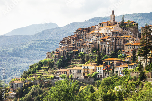 Fotografija authentic beautiful village Apricale, Liguria, Italy