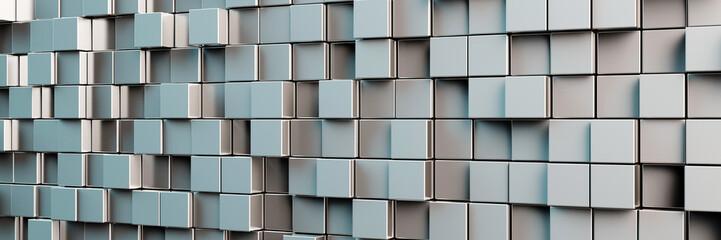 Obraz na Szkle Panorama Hintergrund aus grauen Würfeln