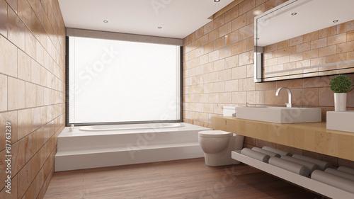 Fliesen Aus Terrakotta Im Badezimmer Kaufen Sie Diese Illustration