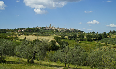 Fototapeta na wymiar San Gimignano