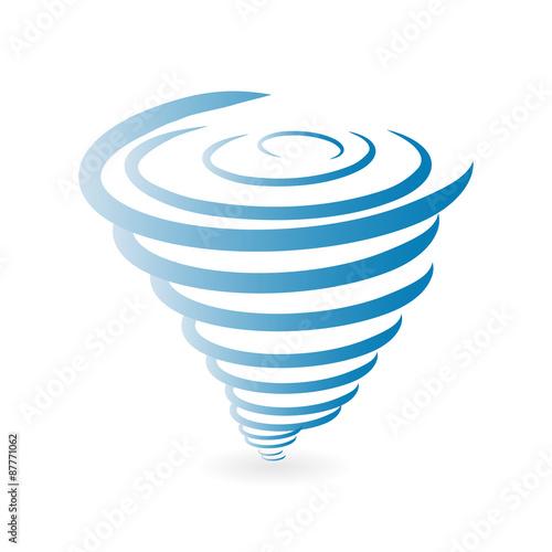 Fotografie, Obraz  Tornado Icon.