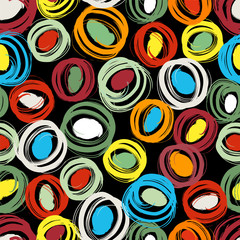 Fototapetaseamless background pattern, with circles and strokes