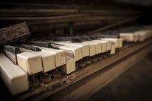 Chernobyl - Close-up Of An Old Piano