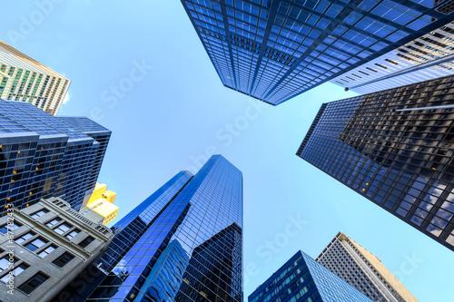 Staande foto London Up view in financial districtg