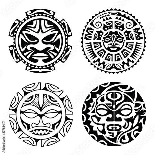 2d9a78bb301ec Set of polynesian tattoo - Buy this stock vector and explore similar ...