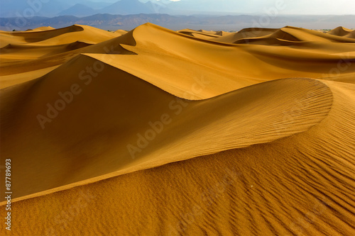 Foto  Sand dunes in Death Valley