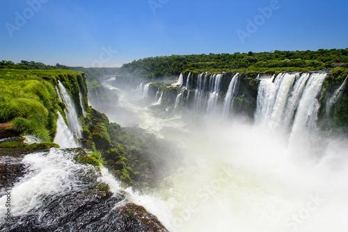 Garden Poster Forest river Iguazu waterfall, Argentina