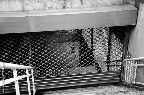 Station Metro Fermee Rideau Fer Volet Roulant Acheter Cette Photo
