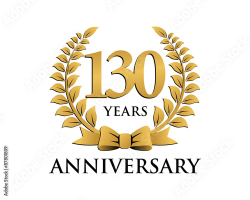 Photo  anniversary logo ribbon wreath 130