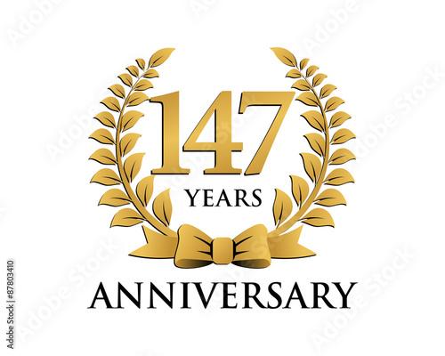 Cuadros en Lienzo  anniversary logo ribbon wreath 147