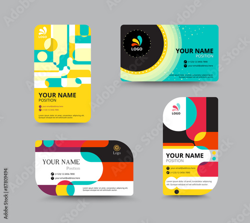 Business Card Template Layout Design Vector Illu