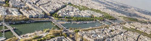 Foto op Aluminium Aerial view from Eiffel Tower on Seine River - Paris.