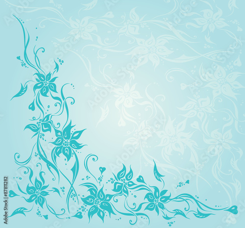 Turquoise Gree Blue Vintage Floral Invitation Wedding Background Design Buy This Stock Vector And Explore Similar Vectors At Adobe Stock Adobe Stock