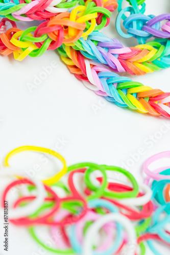 Fototapeta Bracelets made of gum obraz na płótnie