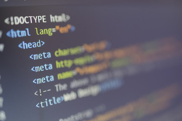 html and css web design code for developers