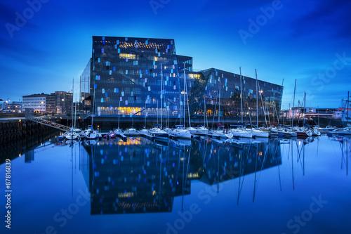 Harpa concert hall in Reykjavík, Iceland. - 87816839