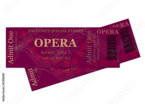 Fotografie, Obraz  Opera Tickets
