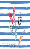 umbrella waterclolr print - 87819675
