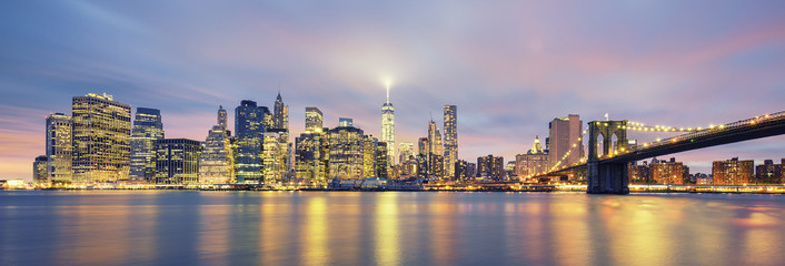 Fototapeta na wymiar Panoramic view of Manhattan