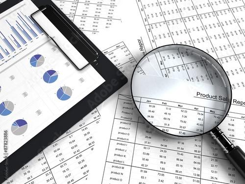 Fotografía  business chart
