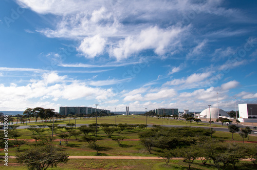 View of Brasilia with National Congress in the Horizon