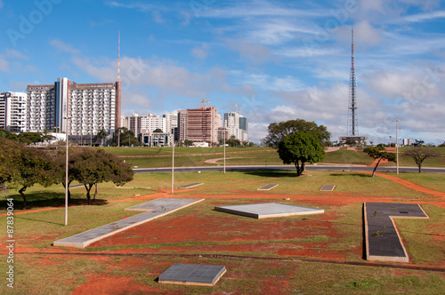 View of Brasilia City with TV Tower in the Horizon