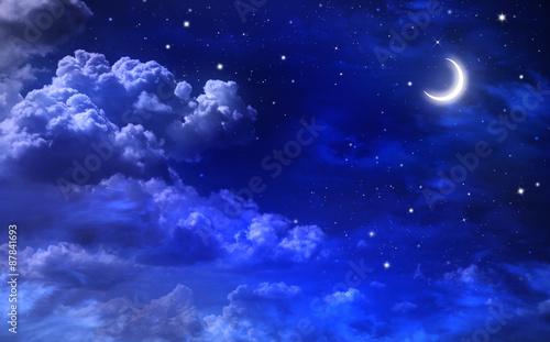 Zdjęcie XXL piękne tło, nocne niebo