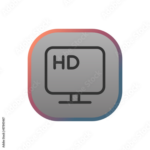 HD TV - Buy this stock vector and explore similar vectors at